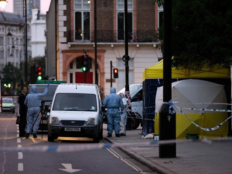 Police said they are investigating for possible terrorist links after the London knife attack. (AFP Photo)