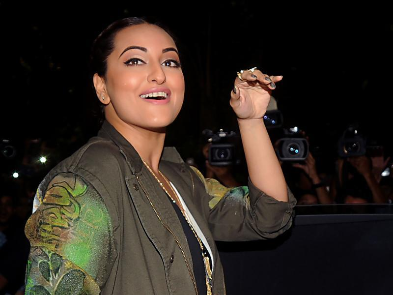 Sonakshi Sinha attends the song launch of Akira. (AFP)