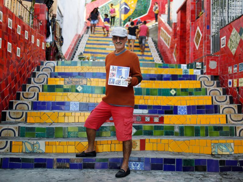 Street vendor Gilberto Rabelo says Olympics will benefit only a few people. (REUTERS)
