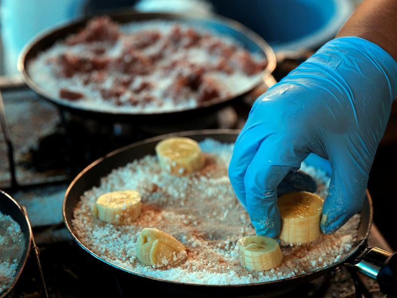 As expected, a lot of focus is on the traditional Brazilian cuisine,  making good use of the opportunity to introduce the world to the food habits of the South Americans. Here, a woman prepares a tapioca dish, which is essentially unique Brazilian-style crepes. (REUTERS)