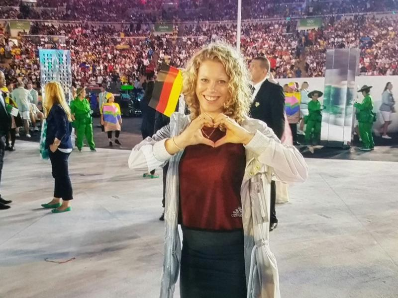 Tennis players certainly seem to be leading the race for the 'Most active on social media' award. Laura Siegemund of Germany makes a heart with her hands.