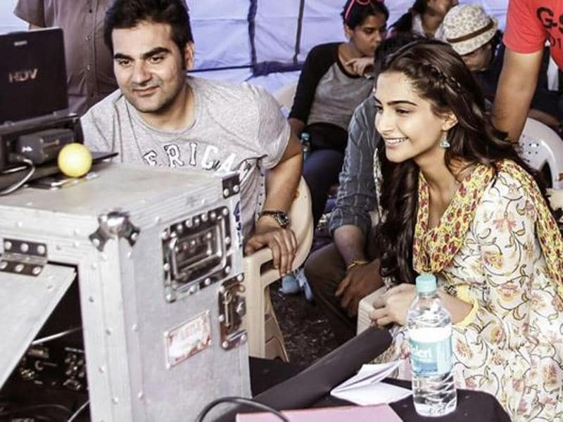 Sonam posted this picture with Arbaaz Khan on Instagram.