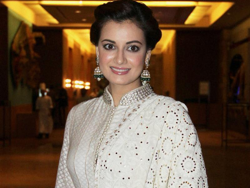 Dia Mirza was seen at a charity event in Mumbai. (PTI)