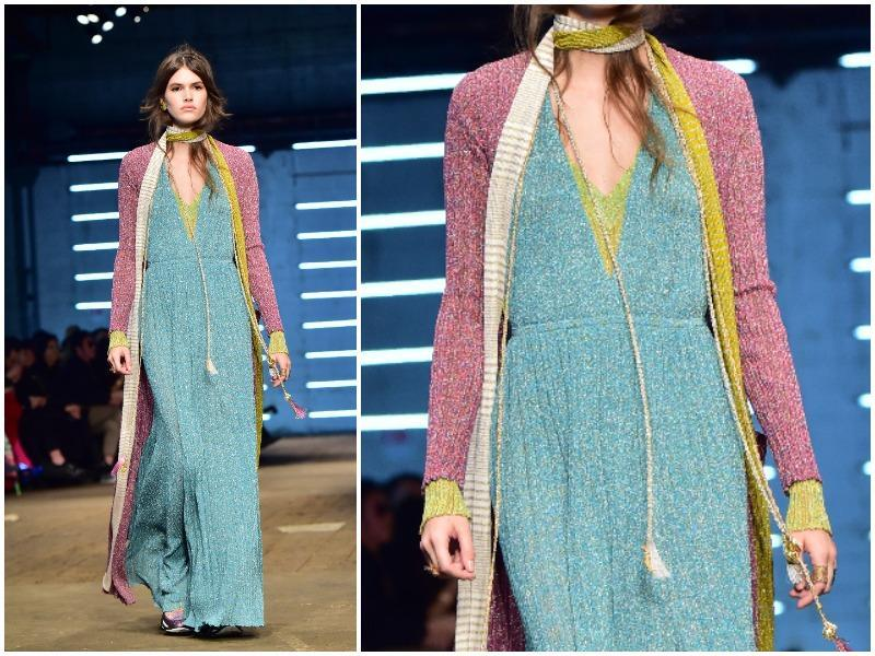 This fall, colour will be centre stage, in bright and pastel shades. Blue is a case in point, as it will be found in bright shades along with azure, sky blue and turquoise. Missoni included a spring pastel blue in its collection. (AFP)
