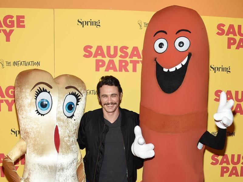Actor James Franco attends the premiere of Sausage Party, the R-rated animated movie about a group of sausages at Sunshine Landmark in New York City.  (AFP)