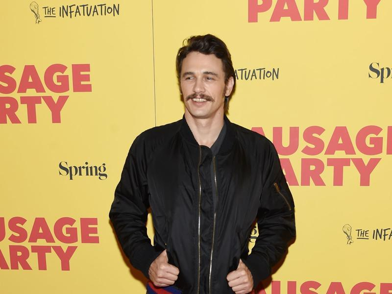 Actor James Franco, who pays Druggie in the R-rated animated movie Sausage Party, attends its world premiere. (AFP)