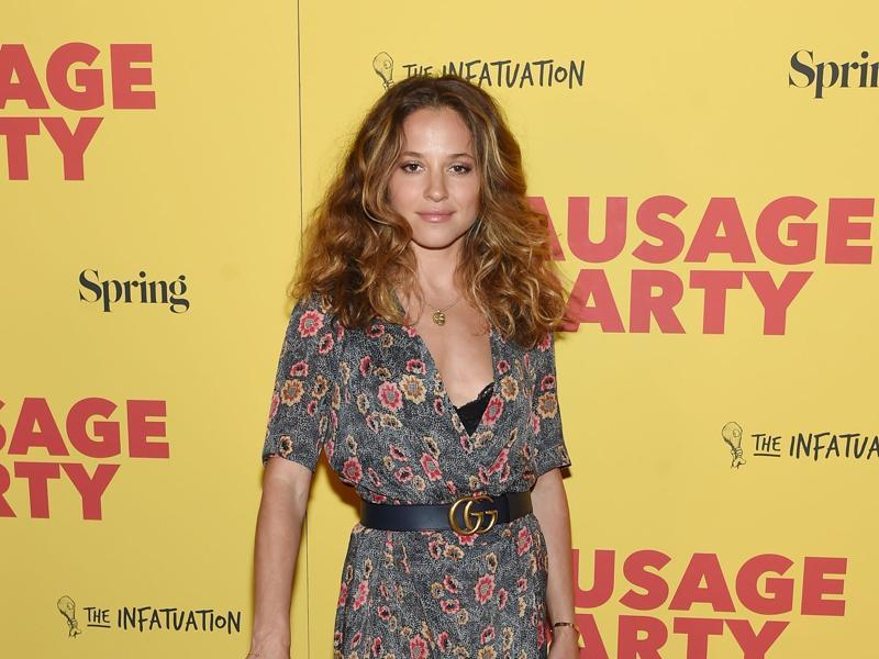 Margarita Levieva at the premiere of Sausage Party, the new comedy by Seth Rogen and Evan Goldberg at Sunshine Landmark. (AFP)