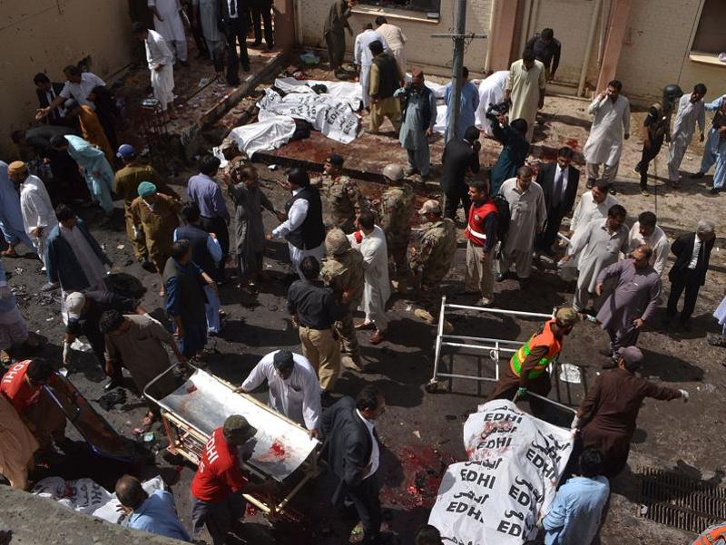 Over 70 people were killed in a blast at a government hospital premises in Quetta on Monday.  The death toll is expected to rise. (AFP)