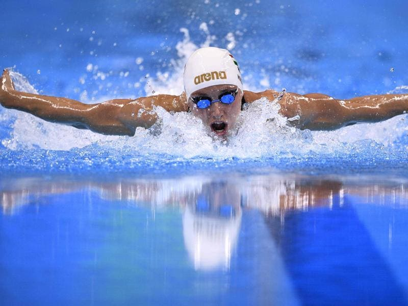 Hungary's Katinka Hosszu competes to break the world record in the Women's 400m individual medley final. (AFP Photo)