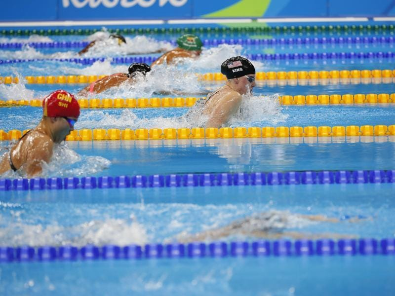 King swam a strong first 50 metres and led at the turn, with Efimova well back in fourth place. (NYT photo)