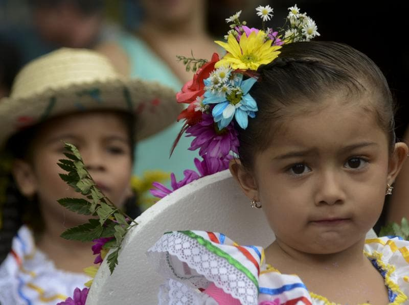 Scenes from Silleteros parade in Medellin. (AFP)