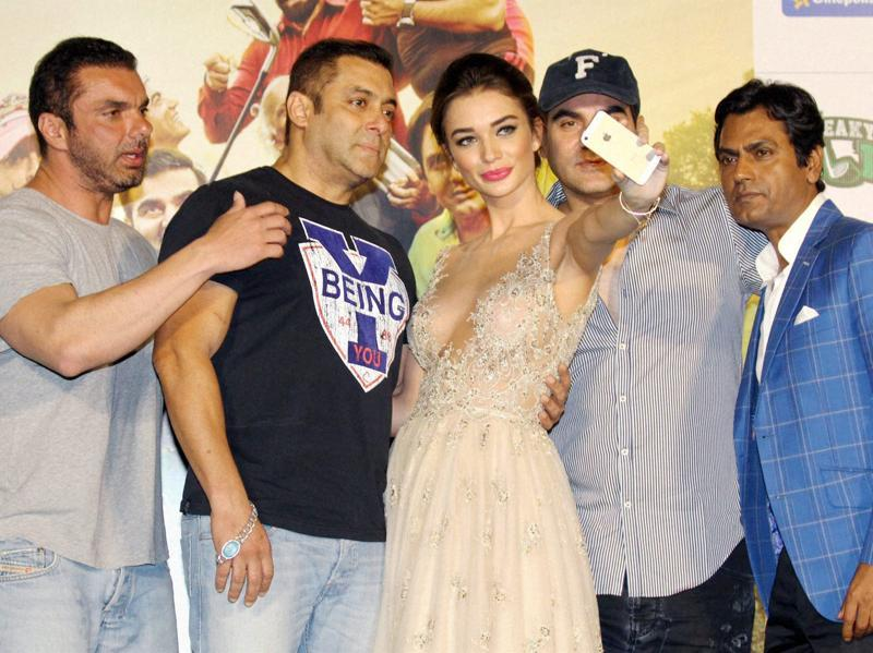 Salman Khan was at the launch event of his production Freaky Ali. (PTI)