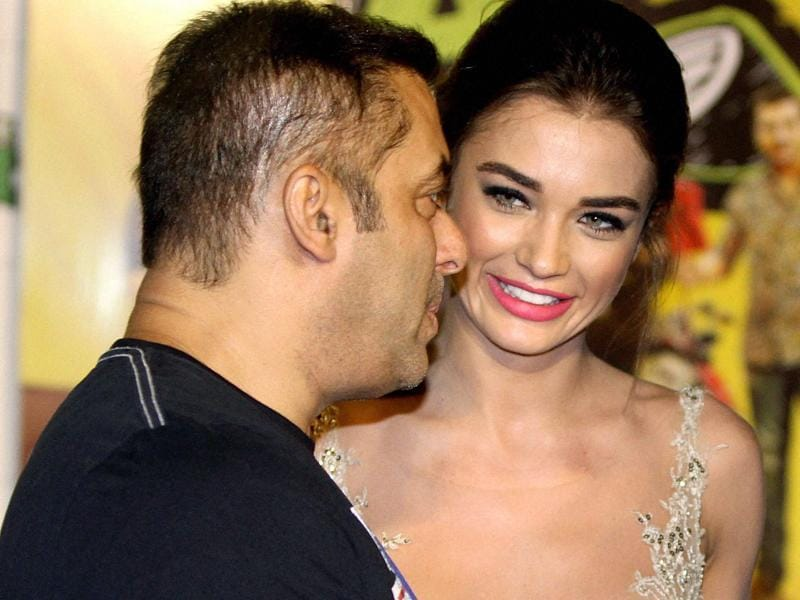 Salman Khan and Amy Jackson at the trailer launch of Freaky Ali.  (PTI)