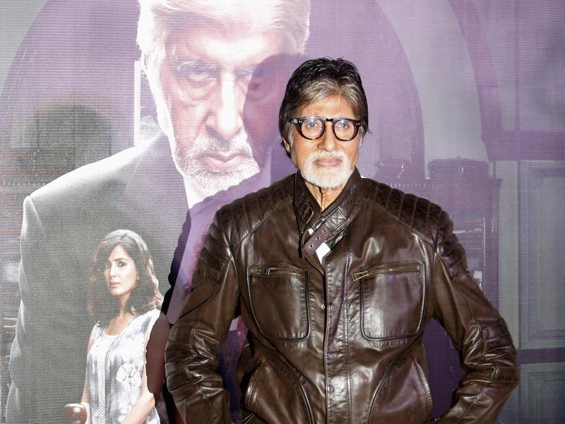 Amitabh Bachchan poses during the trailer launch of his upcoming movie, Pink, in Mumbai. (AP)