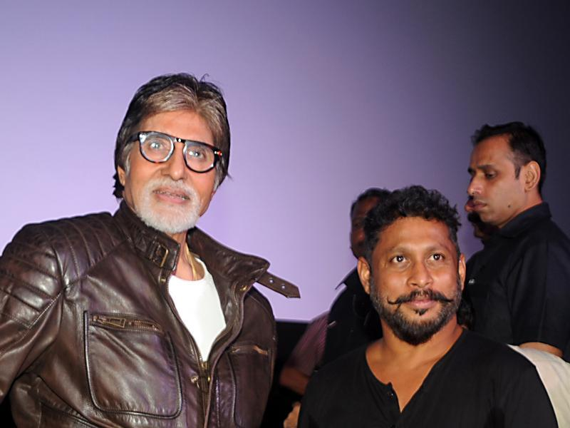 Amitabh Bachchan and Shoojit Sircar at trailer launch of Pink in Mumbai. (AFP)
