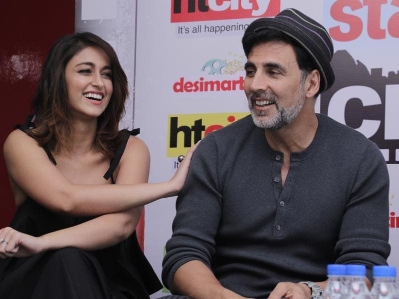 Ileana will be seen as Rustom's wife, Cynthia Pavri, in the film.  (SHIVAM SAXENA/HINDUSTAN TIMES)