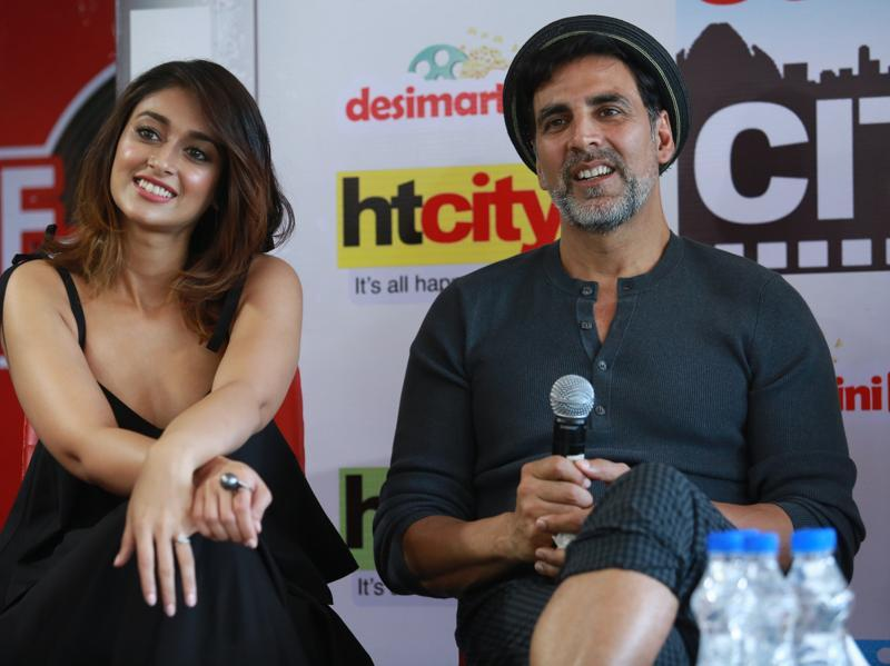 Akshay Kumar and Ileana D'Cruz visited The Hindustan Times House to promote their film Rustom. (AMAL KS /HINDUSTAN TIMES)