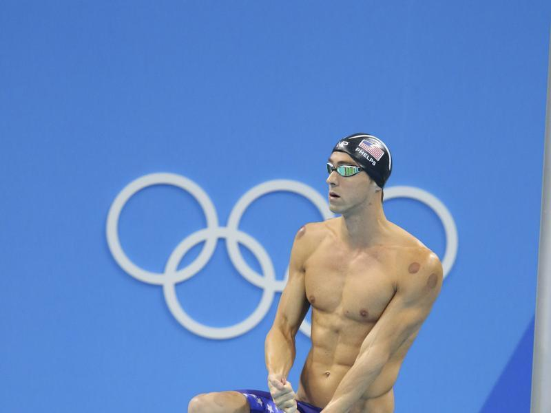 Phelps  steps up to his block before the men's 200m butterfly final. (NYT photo)