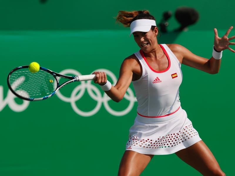 There was another big upset on tennis courts. Spain's Garbine Muguruza lost to Puerto Rico's Monica Puig. (AP Photo)