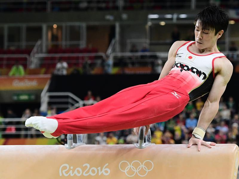 Japan's Kohei Uchimura won the gold medal in the men's individual all-around final of the Artistic Gymnastics. (AFP photo)