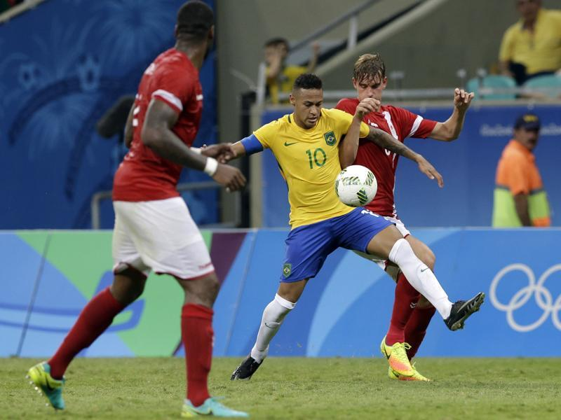 Brazil defeated Denmark 4-0 in a group stage encounter. (AP photo)