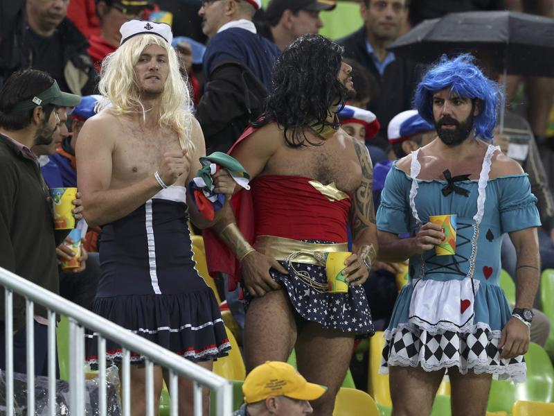 These Rugby fans surely lost a bet. At least we hope they did. (REUTERS)