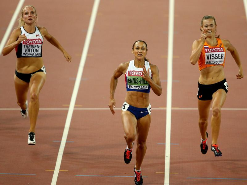 Canada's Brianne Theisen Eaton (left) and Great Britain's Katarina Johnson-Thompson (not in picture) will be the other contenders for the heptathlon gold.  (Getty Images)