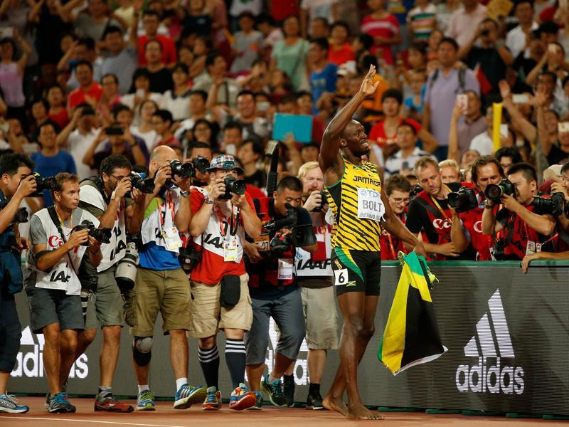 Bolt, who dominated the sprint  events at the 2015 World Championships in Beijing, suffered a blow in the lead up to the Rio Games as he had to withdraw from the Jamaican Olympic trials minutes before the 100m final because of a Grade 1 hamstring tear. (Getty Images)