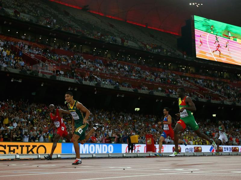 For LaShawn to win in the 400m, he needs to get the better of South Africa's Wayde van Niekerk , who beat him and Grenada's Kirani James to win the 400 gold at the IAAF World Athletics Championships in Beijing last year. (Getty Images)