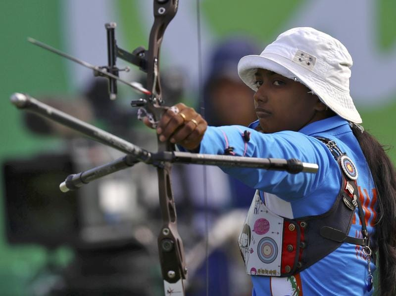 Deepika Kumari went down to Taipei's Ting Tan Ya 80-87 (27-28, 26-29, 27-30) in the women's individual pre-quarters. (REUTERS)