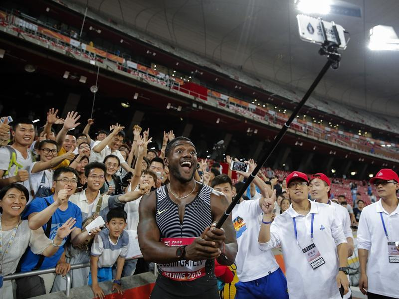 Gatling , who finished third behind Bolt and Yohan Blake in London, has said in his interviews that he is the man who can end Bolt's dominance. (Getty Images)