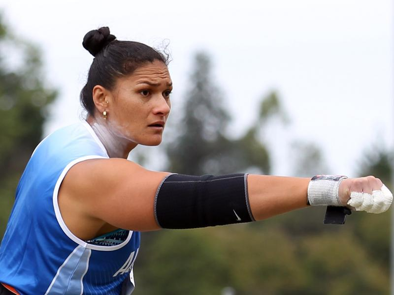 New Zealand's Valerie Adams will be a big favourite in women's shot put . A win will ensure her a high pedestal in the history of the Games as she will become the first woman to win an individual Olympic athletics event three times in a row .  (Getty Images)