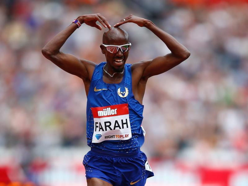 Great Britain's Mo Farah looks set to complete the 5000m and 10,000 m double just like he did in London in 2012. (Getty Images)