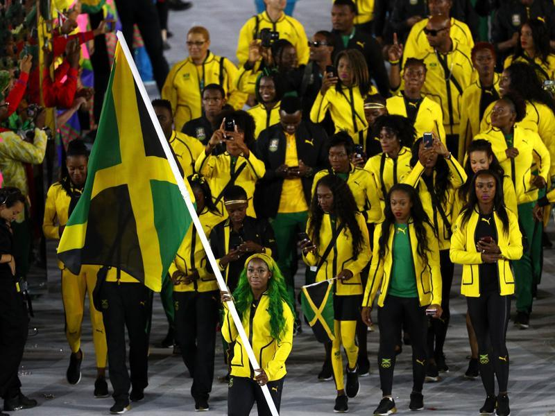 Like Usain Bolt, Shelly-Ann Fraser-Pryce (seen here with the Jamaican flag during the opening ceremony in Rio) is the biggest name in women's sprint. (Getty Images)