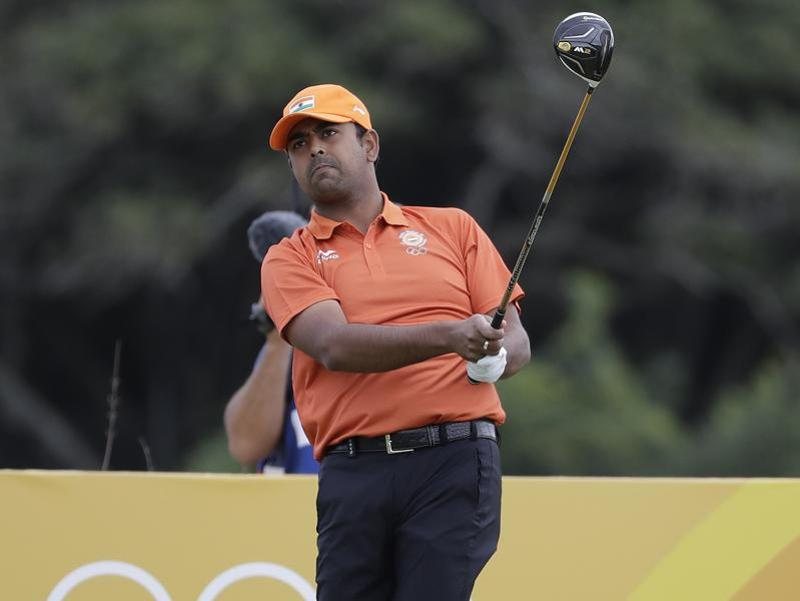 Golfers Anirban Lahiri (in pic) and SSP Chawrasia scored three-over 74 and 71 respectively in the opening round. (AP)
