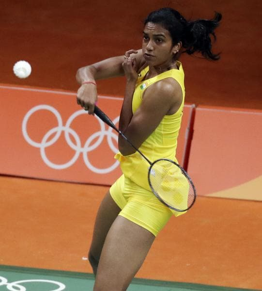 World No. 10 PV Sindhu took just 27 minutes to wrap up the match against Hungarian Laura Sarosi 21-8, 21-9. (AP)