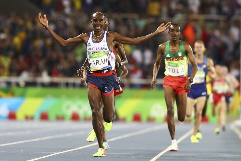 Great Britain's  Mo Farah won the men's 10,000m final on Saturday. (REUTERS)