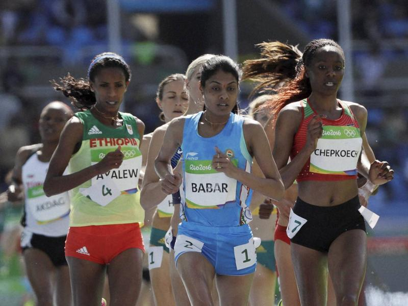 Lalita Babar qualified for the finals of the 3000m steeplechase as a lucky loser, with a timing of 9:19.76. (AP)