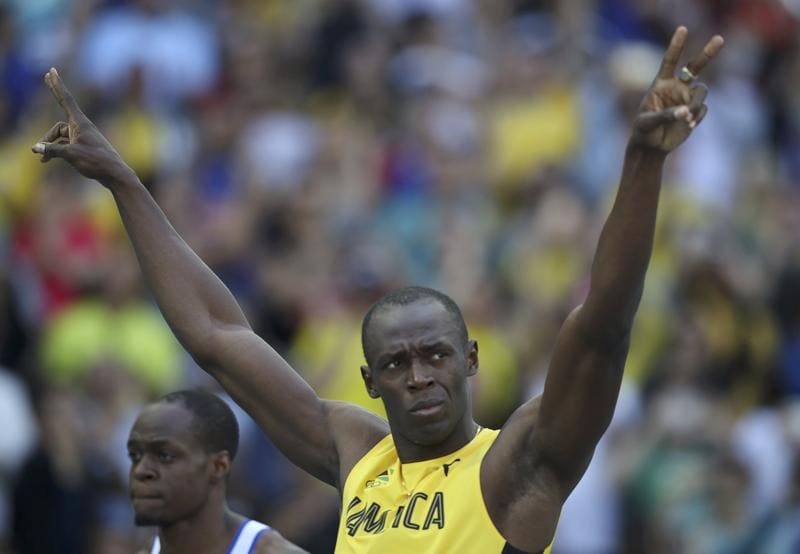 Jamaica's sprint king Usain Bolt finally made his appearance on the tracks on Saturday, much to the delight of the vociferous crowd. (REUTERS)