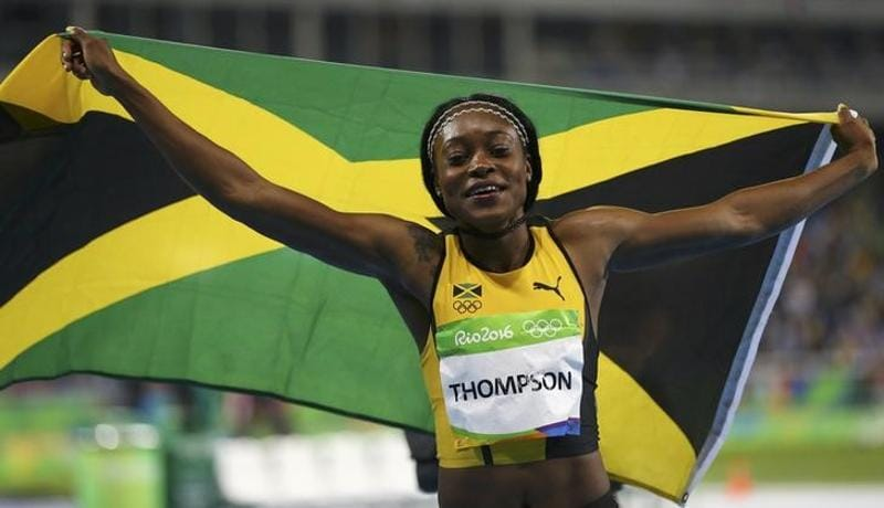 Jamaica's Elaine Thompson won the women's 100m dash. (reuters)