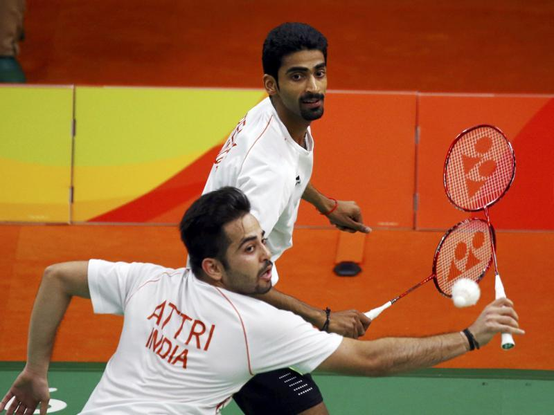 Also out of medal contention, Manu Attri and B Sumeeth Reddy ended their Rio 2016 outing on a winning note, defeating Japan's Hiroyuki Endo and Kenichi Hayakawa 23-21, 21-11. (REUTERS)