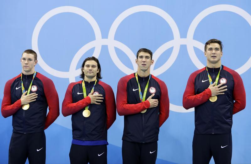 Meanwhile, Michael Phelps cruised to his  23rd Olympic gold, and 28th overall- with a little help from his relay teammates. Team USA won the 4x100m medley relay as the 31-year-old ended his glorious career on a high.   (AP)
