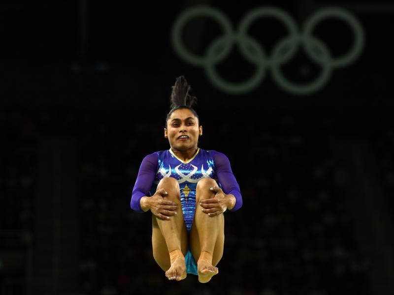 The 23-year-old, hailing from Agartala in Tripura, missed the bronze medal by 0.150 points.  (REUTERS)
