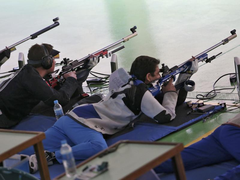 Chain Singh finished at the 23rd place in the men's 50m rifle 3 position qualification, while Gagan Narang finished on the 33rd.  (REUTERS)
