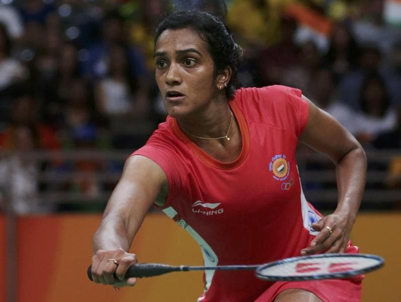 P.V. Sindhu (IND) came back from one game down to defeat Michelle Li (CAN) of Canada. (REUTERS)