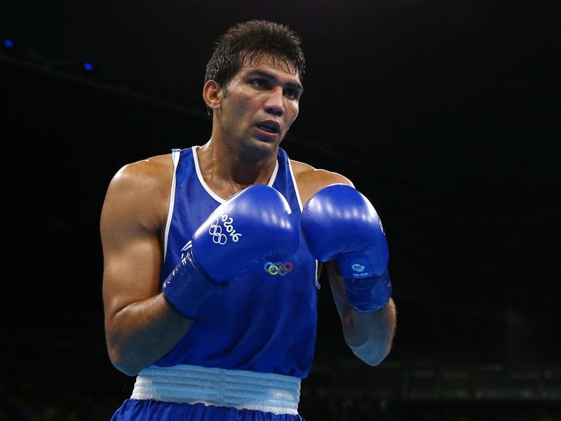 Manoj Kumar was defeated 0-3 in the men's Light Welter (64kg) Round of 16 Bout. (REUTERS)