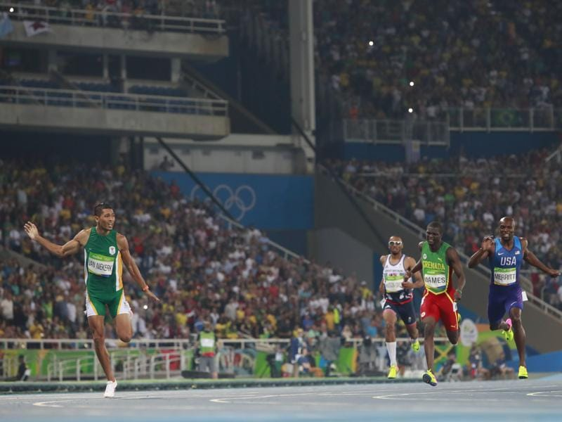 On his way to the 400m gold, Van Niekerk smashed Michael Johnson's world record timing of 43.18 sec that was set in 1999. (NYT Photo)