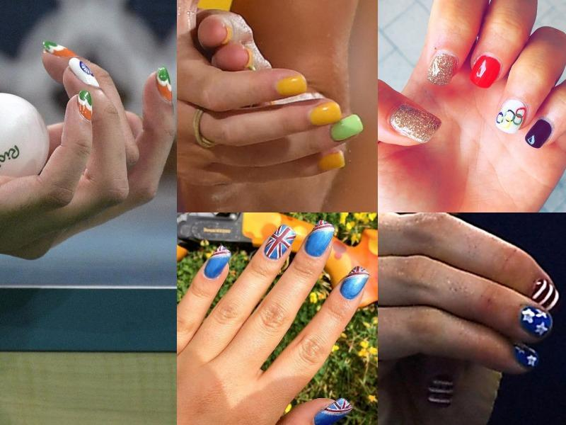 World's trendiest women athletes are giving us medal-worthy manicures. Check out scene-stealing nail art from US gymnast Simone Biles and other international athletes.