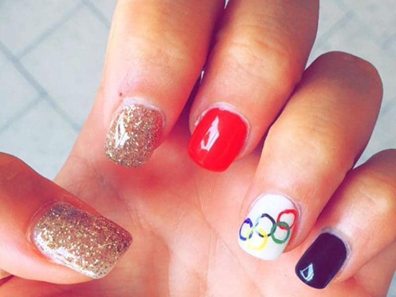 German cyclist Gudi Stock simultaneously channels gold medal vibes with some Olympic rings mojo. (Instagram)