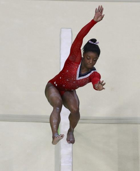 It was Sunday's Balance Beam final which dashed Biles' hope of becoming the first gymnast to win give gold medals at a single Olympics. A slight stumble quashed her chances and Biles had to make do with the bronze. (REUTERS)